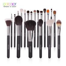 Docolor 20PCS Professional Make up Brushes Powder Foundation Eyeshadow MakeUp Brushes Set Natural Goat Hair Cosmetics Brush Set