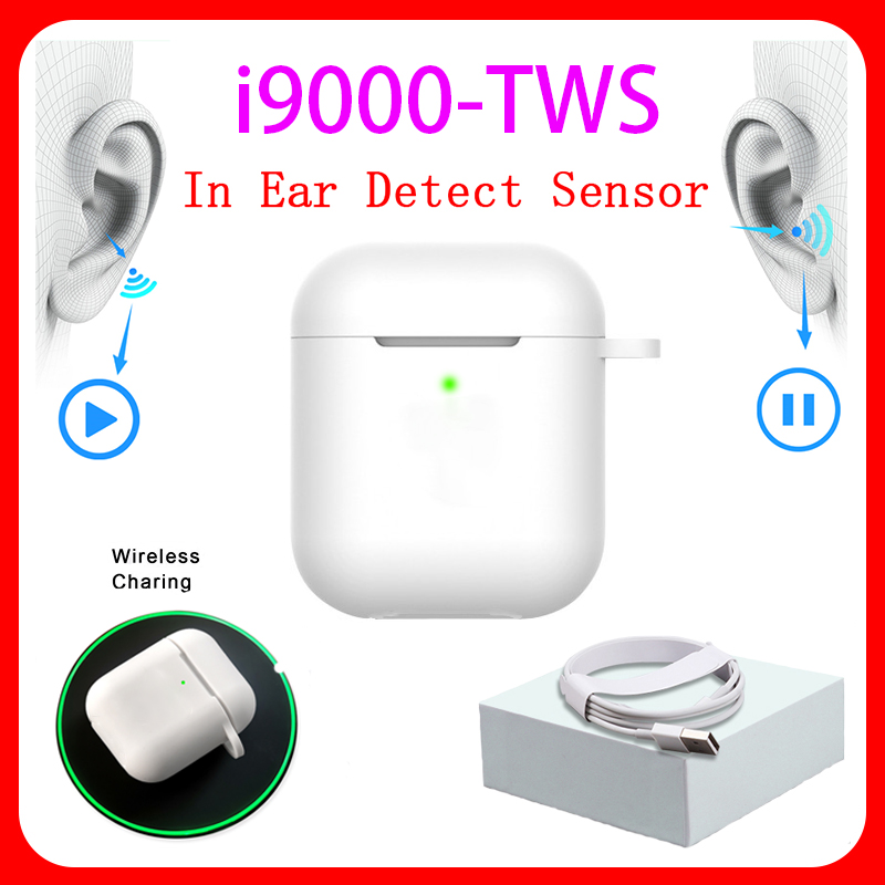 <font><b>Original</b></font> i9000 <font><b>TWS</b></font> 1:1 In-ear H1 Aire 2 Bluetooth Earphone Mini Wireless Earbud Headphone Aire2 Headset PK W1 Chip elari Kulakli image