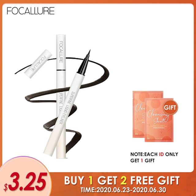FOCALLURE Black Liquid Eyeliner Pencil Waterproof  24 hours Long Lasting Eye Makeup smooth Superfine Eye Liner Pen 1