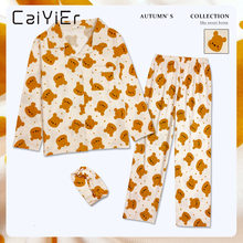 Женский хлопковый пижамный комплект caiyier зимняя одежда для