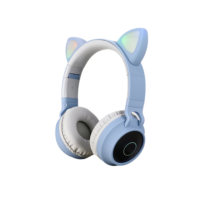 Cat ears cute style Wireless Bluetooth Headband Game Headphone for Grils Gift Colorful BT 5.0 Headset Beauty Bluetooth Headphone