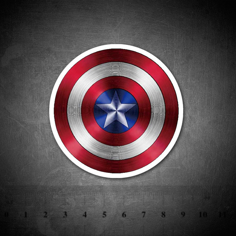 Captain America Shield Creative Stickers For Mobile Phone Laptop Luggage Guitar Case Skateboard Bike Car Decal Stickers