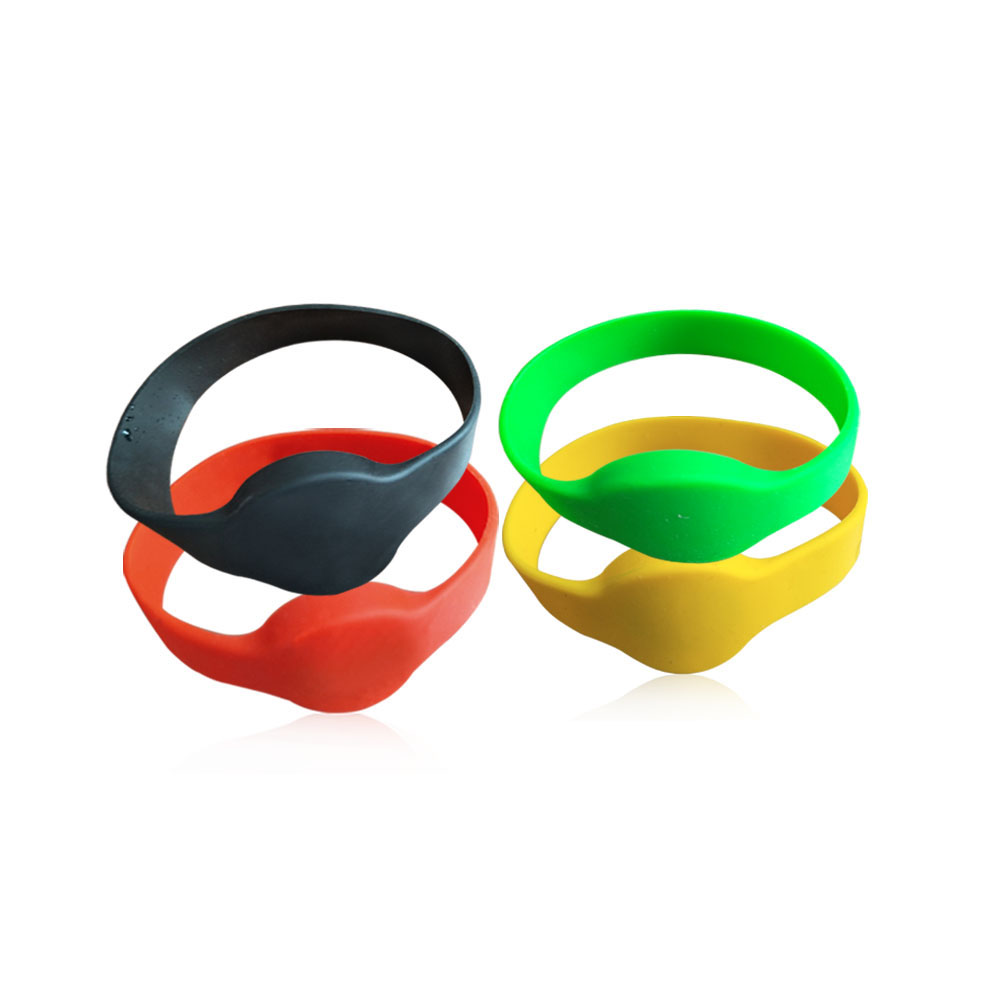 (10pcs/lots) 13.56Mhz MF1108 (S50 Compatible) ISO14443A RFID Waterproof Smart Silicone Wristband Bracelet