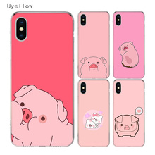 Uyellow Pig Animal Cute TPU Cover For Iphone 5 6 6S 7 8 Plus Trend Silicone Soft Phone Case For Apple X XR XS MAX Coque Capa цена и фото
