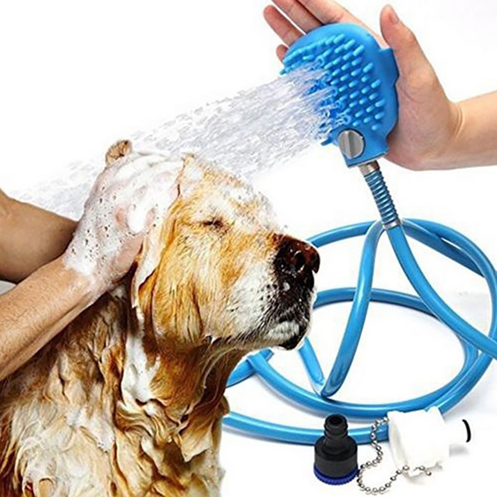 Pet Bathing Tool Palm-Sized Dog Accessories Comfortable Massager Shower Tool Sprayers Cleaning Washing Bath Massage Brush