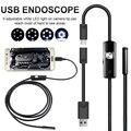 Эндоскоп 8/7/5,5 мм объектив адаптер длиной 1 м/1,5 м/2 м мягкой проволоки Водонепроницаемый USB эндоскоп Камера 6 светодиодный бороскопов Камера д...