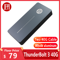 Carcasa móvil JEYI thunderbolt 3 m. 2 nvme carcasa NVME para TYPE-C Tipo de aluminio C3.1 m. 2 USB3.1 M.2 PCIE U.2 SSD LEIDIAN-3