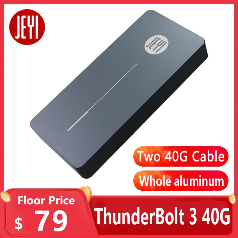 JEYI thunderbolt 3 m 2 nvme Enclosure mobile box case NVME TO TYPE-C aluminium  TYPE C3 1 m  2 USB3 1 M 2 PCIE U 2 SSD LEIDIAN-3