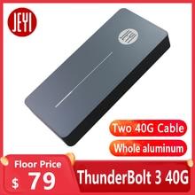 JEYI thunderbolt 3 m. 2 nvme muhafaza mobil kutusu kasa NVME TO TYPE C alüminyum tipi C3.1 m. 2 USB3.1 M.2 PCIE U.2 SSD LEIDIAN 3