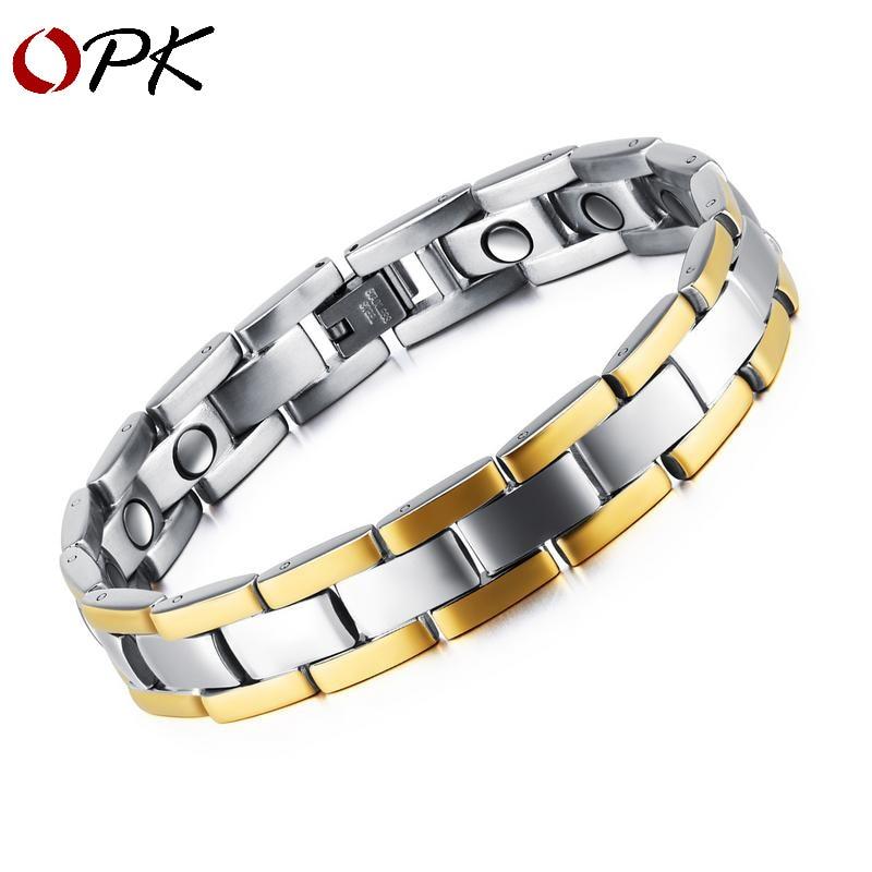 Brand Men Bracelet New Fashion Accessories Classic  Health Lgbt Steel Bracelet Magnet Bead Wrap Bracelet Hansol Men Jewelry Tiff