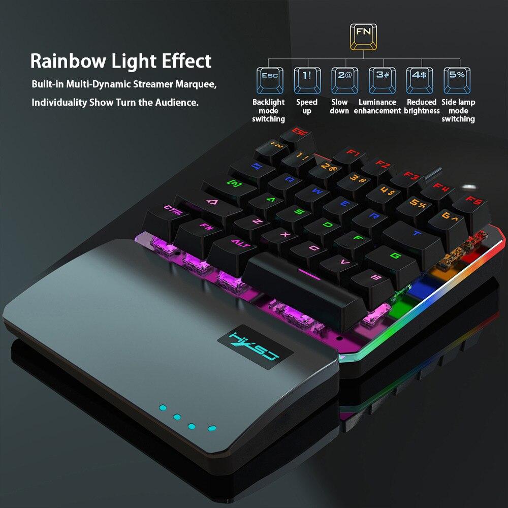 Купить проводная механическая игровая клавиатура с одной стороны usb