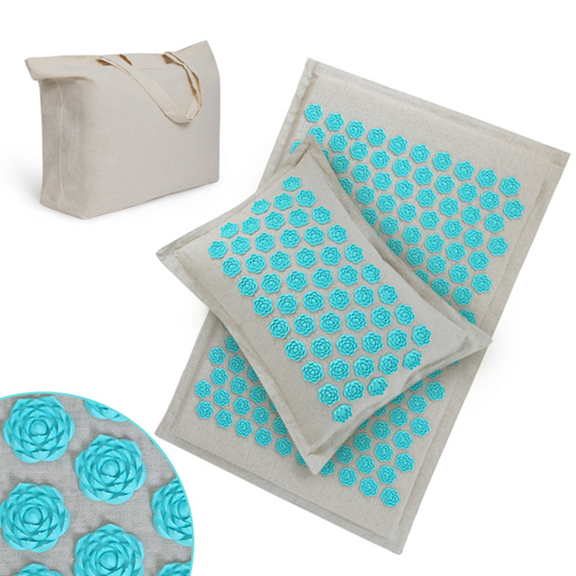 Skipe Mat Acupressure Mat, Massage Mat and Pillow Set Yoga Mat Relieve Back, Neck and Sciatic Pain, Relax Muscles, Relief