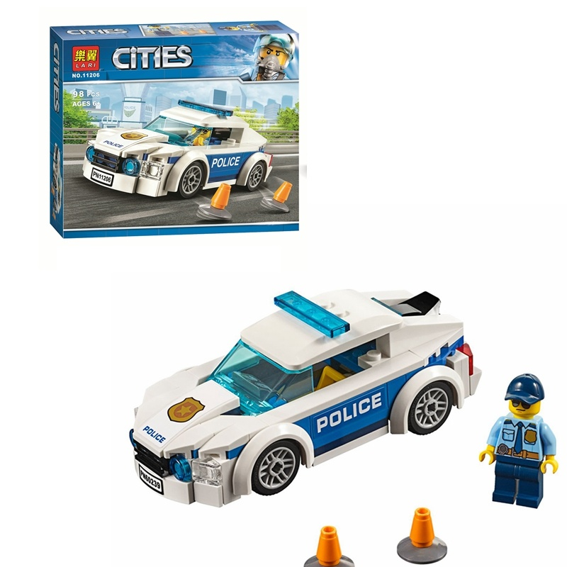 Compatible With Lepininglys 60239 Police Patrol Car City Police Building Blocks Birthday Gifts Toys For Children 11206