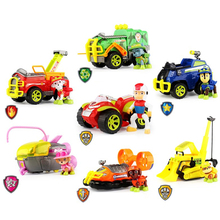 2019 New Paw Patrol Toys Set Toy Car Dog Jungle patrol Action Figures Everest Ryder Sound Anime Model for Children Gift