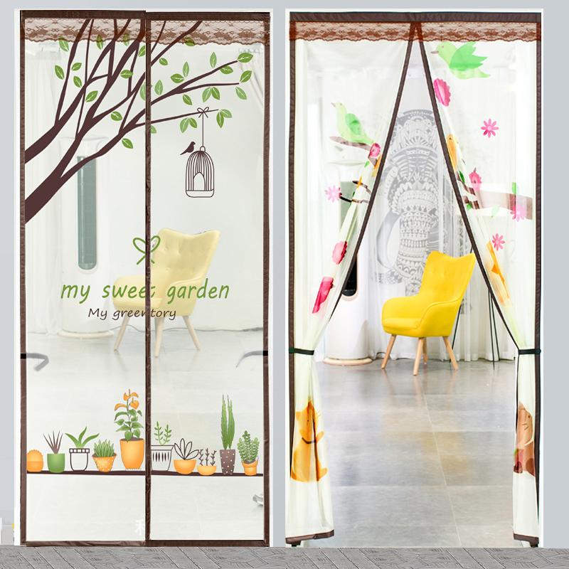 Summer Magnetic Net Mosquito Bug Fly Screen Door Curtains For Living Room Velcro Door Mesh Mosquito Protection Net  Screen Door