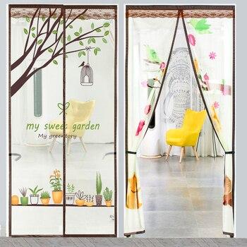 Summer Magnetic Net Mosquito Bug Fly Screen Door Curtains for Living Room Velcro Door Mesh Mosquito Protection Net screen door