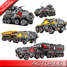 DHL Technic Bricks Sembo 107006 107007 107008 107009 The Wandering Earth Compatible Legoed Movie Truck car Building Block Toys(China)