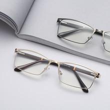 High Quality MEN Business Anti Blue-Ray Alloy Eyeglasses Non Spherical Layer Coated Lenses Reading Glasses for Women