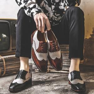 Мужские модельные туфли ручной работы; Обувь с перфорацией типа «броги»; Свадебные туфли из лакированной кожи; Мужские кожаные оксфорды на ...