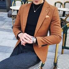 2019 Spring Men's Plaid Blazer Fashion Business Ca