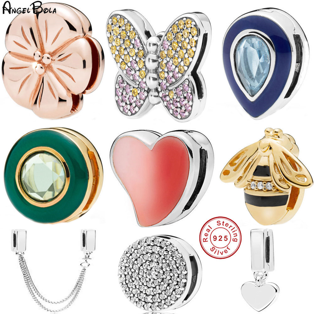 Fashion 925 Silver Bangle Charms Beads Fit Bracelet For Women DIY  Jewelry