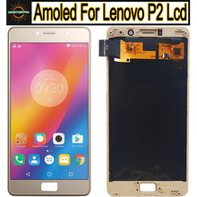"""Per Lenovo P2 Display Touch Screen Digitizer Assembly per Lenovo P2 Display LCD Con Cornice 5.5 """"Per Il Lenovo P2 p2a42 Schermo"""