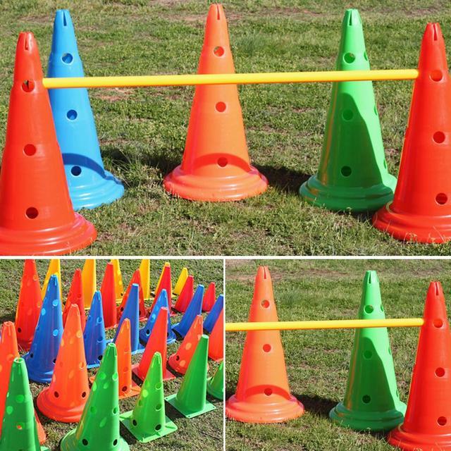30cm Logo Football Bucket Height Roadblock Road Marking Football Training Roadblock Logo Football Training Accessories
