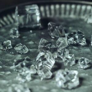 Image 4 - 24 قطعة مكعبات الثلج الاصطناعية ، الاكريليك شفافة المشروبات وهمية الجليد الغذاء التصوير الدعائم