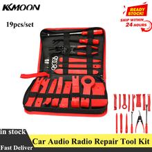 طقم أدوات إصلاح راديو صوت السيارة مكون من 19 قطعة/المجموعة لوحة باب داخلية مزركشة أداة تثبيت لإزالة الصوت أداة إصلاح أدوات يدوية