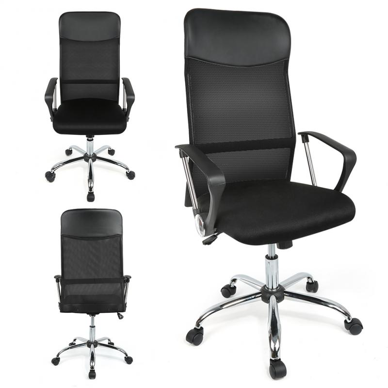 Ergonomic Imitation Office Chair 360 Swivel Chair Mesh Back Lifting Chair HWC