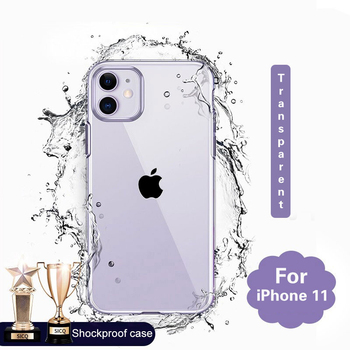 Silicone Case For iPhone 11 Pro X XR XS Max 6 6s 7 8 Plus Cover Transparent Cases For iPhone 11 Pro Max XR Shockproof Case Soft image