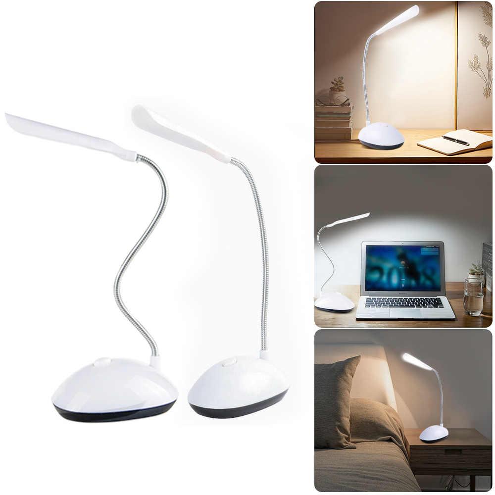 Protección ocular LED luces de lectura de libros Dimmable lámpara de mesa giratoria de 360 grados niños Luz de estudio uso 3 * AAA batería alimentada