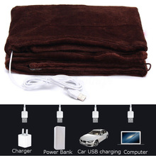 Car Home Electric Warming Heating Blanket Pad Shoulder Neck Mobile Heating Shawl USB Soft 5V 4W Ourdoor Soft Heated Shawl