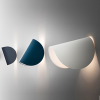 Creative nordic design wall lamp led bedside wall scone lighting stairs led light modern bedroom light black/white/blue fitting