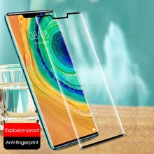 Full Curved Edge Tempered Glass For Huawei P30 Pro Case Screen Protector On For Huawei Mate30 Pro Mate 20 30 Pro Protective Film(China)