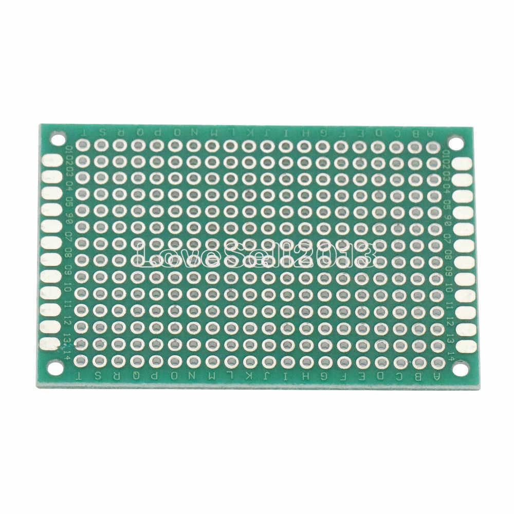 2PCS Double Side Prototype PCB Tinned Universal Breadboard 4x6 cm 40mmx60mm FR4