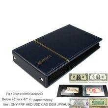 Folhas de notas da pasta do álbum da proteção do dinheiro do papel da cédula do pccb