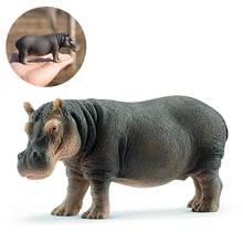 5 cal symulacja hipopotam dzikie życie Model figurki figurki figurki do zabawy Zoo rzeki zwierząt 14814 wystrój domu prezent dla dzieci