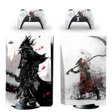 Bloodborne PS5 standardowa edycja dysku skórka naklejka naklejka na konsolę PlayStation 5 i 2 kontrolery PS5 skórka naklejka