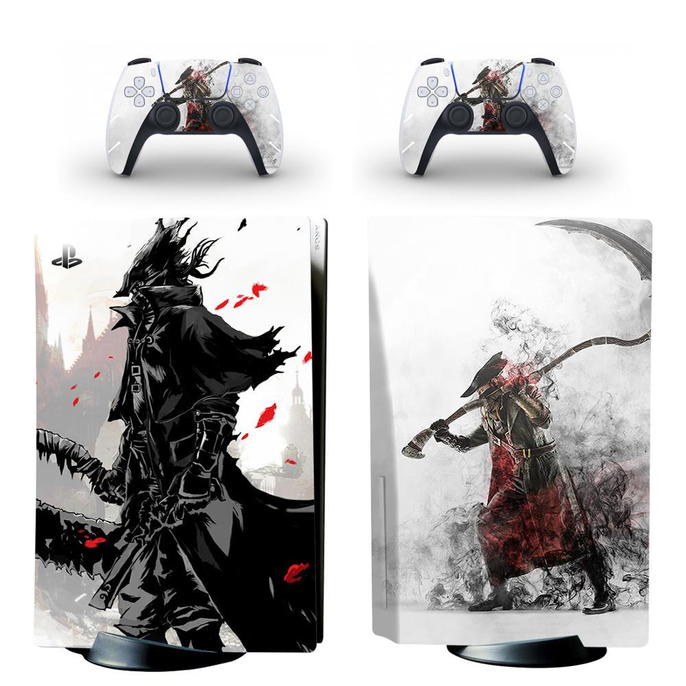 Übertragene PS5 Standard Disc Edition Haut Aufkleber Aufkleber Abdeckung für PlayStation 5 Konsole und 2 Controller PS5 Haut Aufkleber