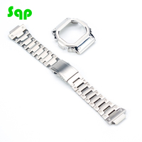 Silver Set Upgrade Modification Watchband Bezel/Case DW5600/5610 Metal 316L Stainless Steel Strap