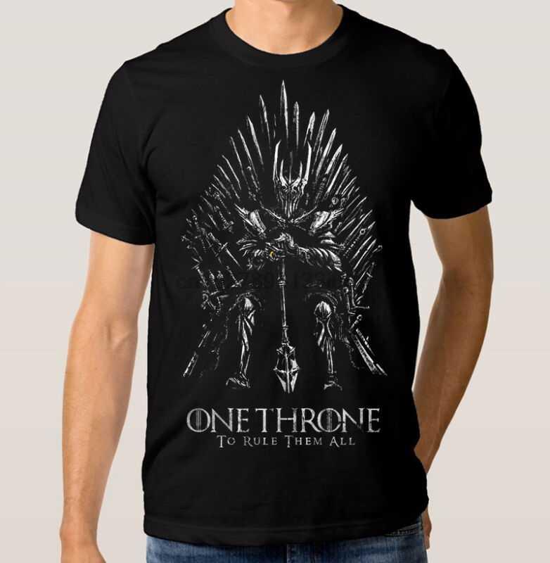 Sauron One Throne T-shirt władca pierścieni gra o tron Combo Tee wszystkie rozmiary