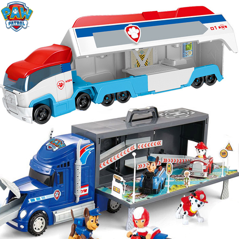 Paw Patrol Large Toy Bus Set Rescue Big Truck Patrol Dog Car Action Figure Puppy Patrulla Canina Birthday Gifts For Boy And Girl