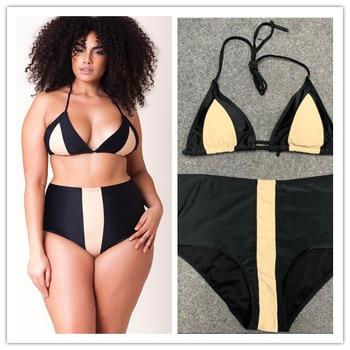 Plus Size Swimsuit Push Up Swimwear Women Bandage Bathing Suits Strappy Swimsuits Large  Monokini Badpak Female Fatkini 14