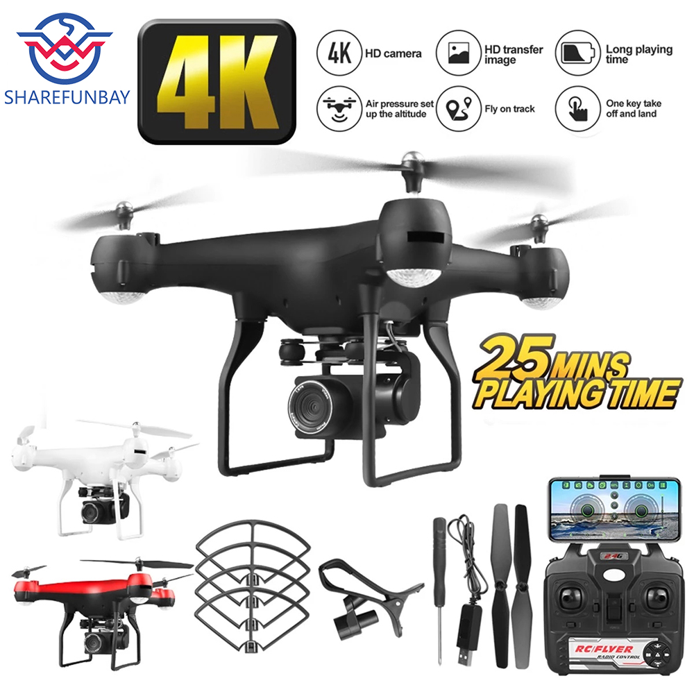 Drone 4k HD 1080p WiFi Fpv Drone Height Keep Hover Quadcopter Servo Camera Rc Helicopter One-button Landing Drone With Camera