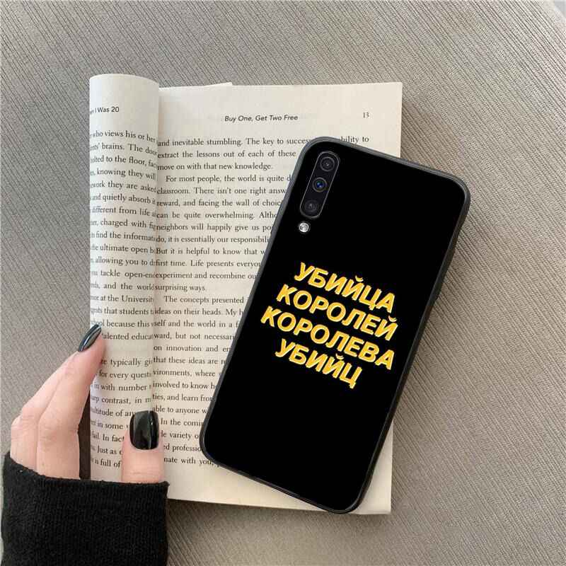 MaiYaCa Russe Citations Mots Téléphone étui pour samsung Galaxy A7 A50 A70 A40 A20 A30 A8 A6 A8 Plus A9 2018
