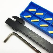 MGEHR1212 MGEHR1010 MGEHR1616 MGEHR2020 MGEHR2525, porte-outil de rainurage externe, ensemble d'outils de séparation de tour à lame en carbure