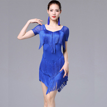 Woman Tassel Latin Dance Fashion Latin Dance Dress For Women Lady International Standard Ballroom Cha Cha Salsa Dancing Dresses