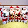 Модный новый 30 см Электрический Санта-Клаус с музыкальным инструментом, плюшевая кукла, украшения, детские игрушки, рождественские подарки
