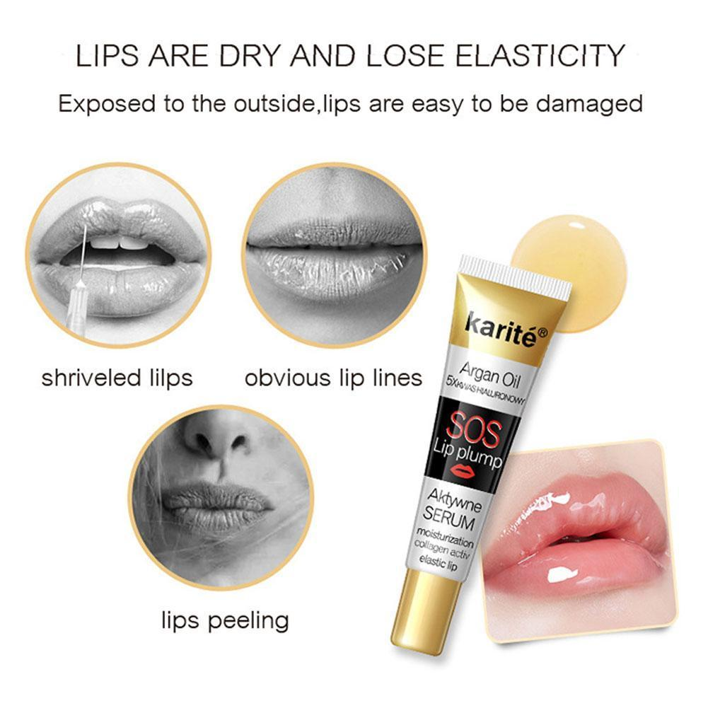 Transparent Lip Glaze Moisturizing Brighten Lip Tint Lip Lines Lip Lipstick Balm Lighten Color Plump K9L2 image